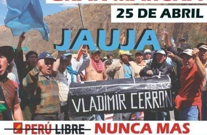 Convocan a marcha contra Perú Libre en la sierra central - La Noticia